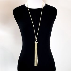 White House Black Market Tassel Necklace